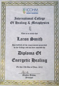 Diploma in EnergeticHealing - Stephen Bishop ICOHM